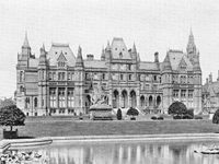 Eaton Hall, Cheshire (by Alfred Waterhouse - dem. 1961) (Image: Lost Heritage)