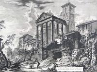 Piranesi: 'Temple of Hercules, at Cori' - 1769 (Image: Mattia Jona Gallery)