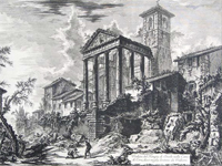 Piranesi: 'Temple of Hercules, at Cori' - 1769 (Image: Mattia Jona Gallery)