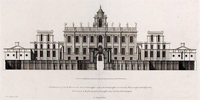 Easton Neston as shown in 'Vitruvius Britannicus' (Image: wapedia)
