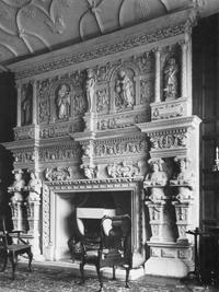 Chimneypiece c.1600, South Wraxall Manor (Image: (c) Nicholas Cooper)