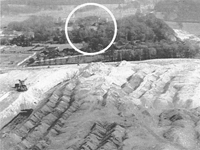 Mining at Wentworth Woodhouse (house circled)