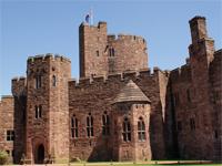 Courtyard, Peckforton Castle, Cheshire (Image: Bob W / flickr)