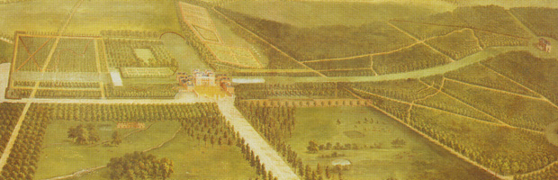 Detail of 'An Aerial View of Tottenham Park, Wiltshire' by Pieter Andreas Rysbrack (after 1737) - this picture hung for many years in the estate office.