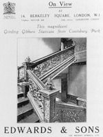 Advert for the Staircase from Cassiobury House with Edwards & Co (Image: 'Moving Rooms' - John Harris)