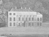 The first Mamhead House, Devon shown c.1826, demolished c.1828