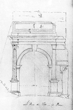Arch of TItus, Rome - drawing by Sir John Soane