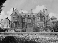 Hafodunos Hall, Wales in 1954 (Image: RCAHMW) - burnt out in 2004