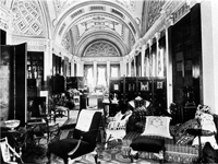 Library (before the fire), Sledmere House, Yorkshire (Image: Country Life)