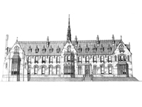 Proposed design for Garendon Hall, Leicestershire by E.W. Pugin (Image: de Lisle family / Pugin Society)