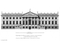 Wanstead House I by Colen Campbell - first proposed design - 1715