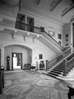 Stair hall, Meldon Park (Image: Country Life Picture Library)