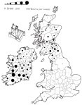 Map of tower houses in Great Britain and Ireland built between 14thC - 17thC