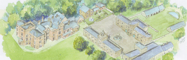 Proposed restoration of Winstanley Hall (Image: Huw Thomas / SAVE Britain's Heritage)