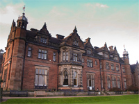 Keele Hall, Staffordshire - garden front (Image: Mr Ush via flickr)