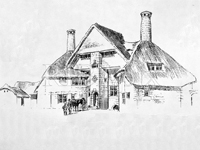 Drawing for The Barn, Exmouth, Devon by E.S. Prior - 1895 (Image: RIBA)