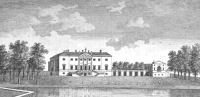 "Barrington Hall, Hertfordshire (Image: from ""A New Display of the Beauties of England"" (London : 1776-1777))"