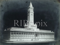 Plaster model of proposed Selfridges tower (Image: RIBA Library Drawings Collection)