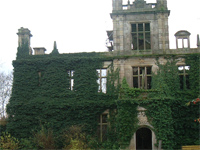 Ruined shell of Bylaugh Hall before restoration (Image: The Burrell Partnership)