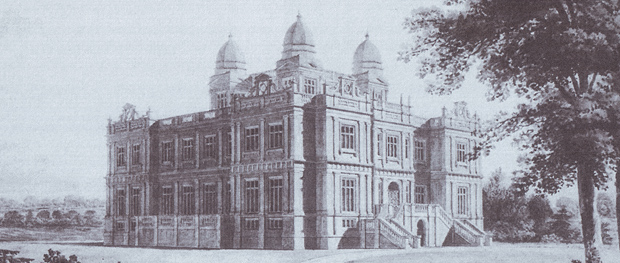 Unexecuted design for Bylaugh Hall by William Wilkins, 1822 (Image: Public Record Office MPA. 66.1 / 'William Wilkins, 1778-1839' - R.W. Liscombe)