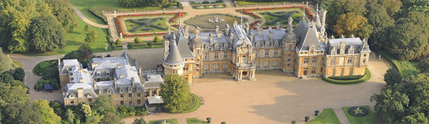 Aerial view of Waddesdon Manor, Buckinghamshire (Image: Waddesdon)