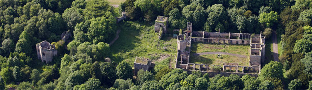 Ruins of Ravensworth Castle, County Durham (Image: Webb Aviation)
