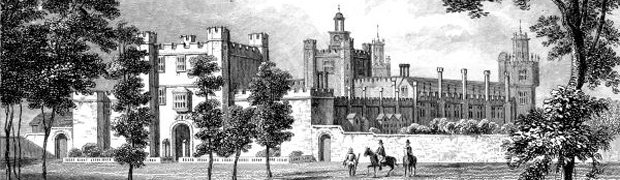 Palace of Theobalds, Hertfordshire - from an article in the Gentleman's Magazine, 1836