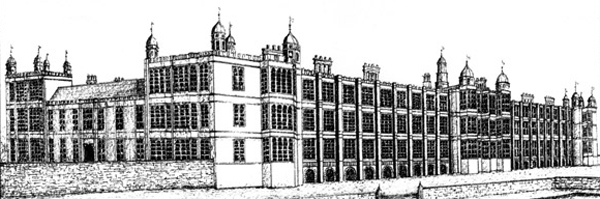 Reconstruction of the South front of Holdenby Palace, Northamptonshire (Image: Holdenby Hall)