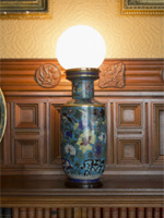 One of four of the original electric lamps at Cragside (Image: ©National Trust Images/James Dobson)