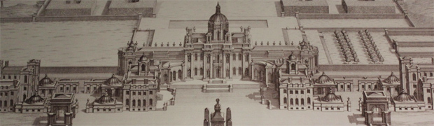 Drawing showing original plan for Castle Howard (Image: via Visiting Houses and Gardens)