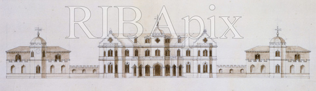 Proposed alterations to Honingham Hall, Norfolk, 1737, by William Kent (copyright: RIBA British Architectural Library)