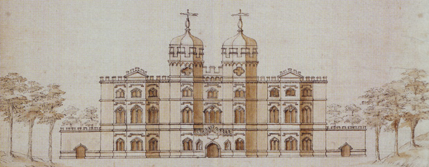 Design for the east front of Esher Place, c1732 (copyright: Merton Heritage & Local Studies Centre)