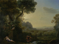 'Landscape with Narcissus and Echo' - Claude Lorrain, 1644 (Image: National Gallery)
