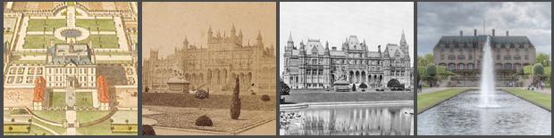 The many Halls of Eaton: (l-r) Samwell, 1664 / Porden, 1803, Burn, (1845) / Waterhouse, 1870 / Dennys, 1971, Percy Thomas Partnership, (1989)