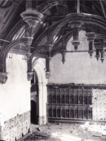 Derelict great hall in 1960s - Bayon's Manor, Lincolnshire (Image: W.T. Jones via Drakes Family)