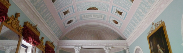 Newly repainted Library, Kenwood House, London (Image: Matthew Beckett)
