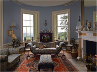Drawing Room, Hendre House, Carnarvonshire, Wales