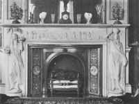 Indian fireplace, Daylesford House, Gloucestershire (Image from 'Country Houses of Gloucestershire' by Nicholas Kingsley (1992, Phillimore & Co)