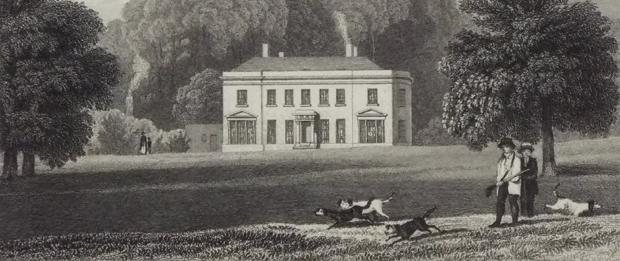 Detail from 'Sunning-Hill Park, Berkshire' drawn by J.P. Neale (Image from Rare Old Prints)
