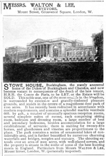 'Stowe House, Buckingham', 'In the Grafton country...' Advert, Country Life Illustrated, 8 January 1897, p. 3