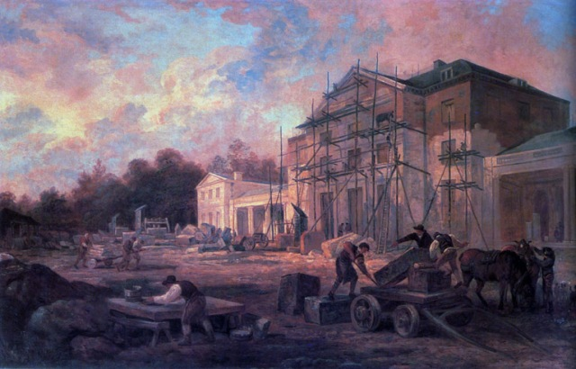 'Rebuilding of Southill' (1797) by George Garrard (Image © University of Texas)