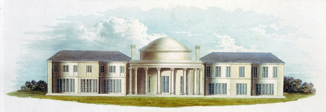 Undated print of Henry Holland's Brighton Marine Pavilion of 1786-87 (Image source Khan Academy)