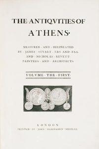 Antiquities of Athens (Vol I) - James Stuart and Nicholas Revett (1762)
