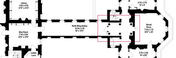 Detail of Trafalgar Park floorplan showing north vestibule layout (Image © Savills)