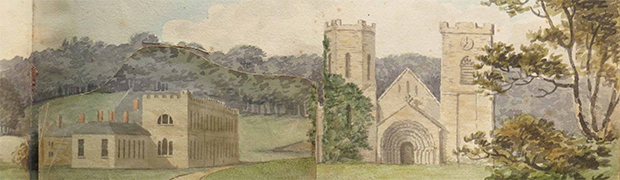 Detail from Port Eliot Red Book showing the house as found (© Eliots of Port Eliot)