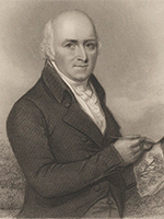 Detail from Humphry Repton by Henry Bryan Hall, published by Longman & Co, after Samuel Shelley (1839) (NPG D5801 © National Portrait Gallery)