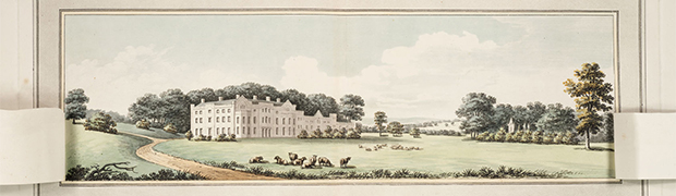Detail showing example of possible changes to example house - Plate III of Repton's 'Sketches and hints on landscape gardening' (1794)