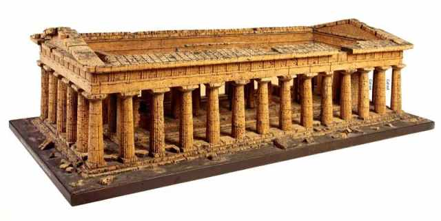 Cork model of the Temple of Zeus or Apollo, Paestum (c. 1820), attributed to Domenico Padiglione. Courtesy of the Trustees of Sir John Soane's Museum