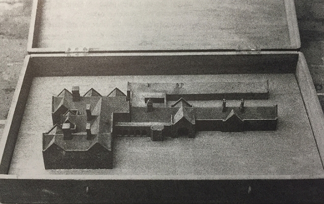 Barton Manor, model of proposed alterations to the stables - George Devey, c.1873-74 (Image © Jill Allibone)