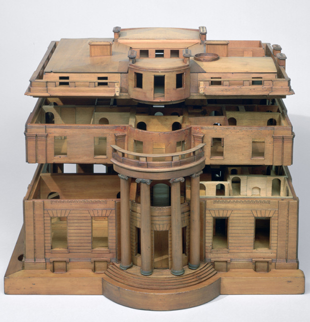 Model for Tyringham, Buckinghamshire, (designed by Sir John Soane), made by Joseph Parkins, c.1793-1794, wood (© Sir John Soane Museum - number: X236)